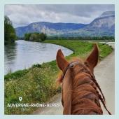 #MYBESTRIDINGPLACE 💙  Aujourd'hui, @audrey_etcie nous offre un paysage entre monts et rivières depuis l'Isère 😍  📍Isère, Auvergne-Rhône-Alpes 📸 @audrey_etcie   📩 Toi aussi participe à notre grande randonnée virtuelle en nous envoyant ta photo par message!🤩  #mybestridingplace #baladeacheval #isere #auvergne #rhonealpes #acheval #randonneeequestre