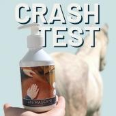 CRASH-TEST ⚡️ L'huile sèche de massage ✨  Une image vaut 1000 mots, non ? 🥱🥱🥱  #horse #horsesofinstagram #horserelax #horsecare #horselover